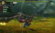 MH4U-Rathalos and Azure Rathalos Screenshot 001