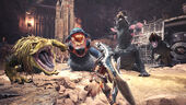 MHW-Great Jagras, Great Girros and Dodogama Screenshot 001
