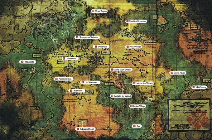 Monster Hunter World Map (translated)