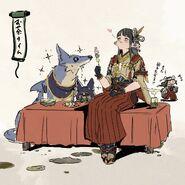 Tea time with Hinoa
