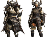 Black X Armor (Blademaster) (MHGU)