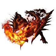 MHXR-Scorching Heat Rathian Render 001