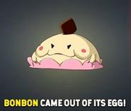 Bonbon from egg