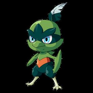 Agilu, the Leaf type starter monster.