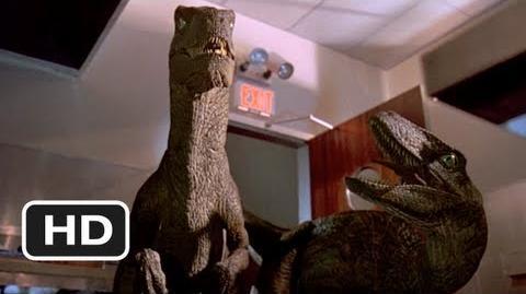 Jurassic Park (9 10) Movie CLIP - Raptors in the Kitchen (1993) HD