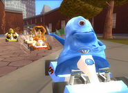 DreamWorks Superstar Kartz B.O.B. racing in the Central Park Zoo
