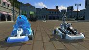 DreamWorks Superstar Kartz B.O.B. racing with Marty