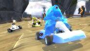 DreamWorks Superstar Kartz B.O.B. racing with Skipper & Shrek