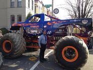 Roderick Torrence working a detail at the movie MONSTER TRUCKS
