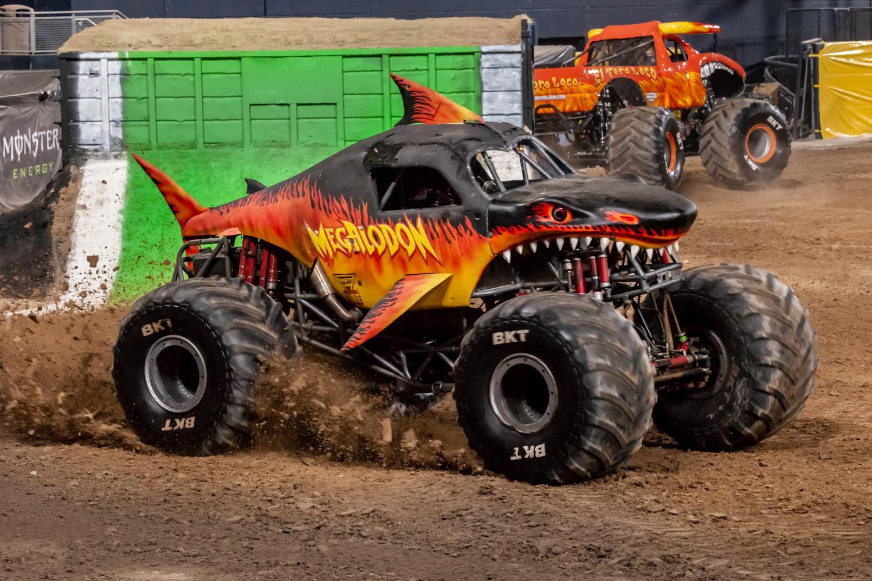 Megalodon Fire Monster Trucks Wiki Fandom