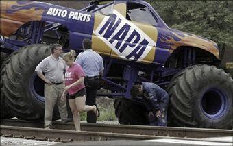 Unusual Monster Truck Incidents Monster Trucks Wiki Fandom