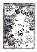Moominsummer Madness, 1954 Karta Over Granviken
