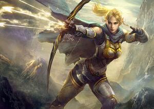 A Divine Hunter in actionArt done by Rayden Chen[1]