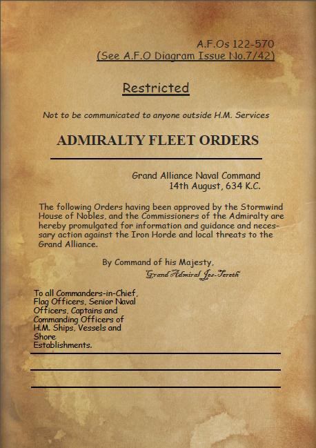 Admiralty Fleet Orders of August 634 K.C.