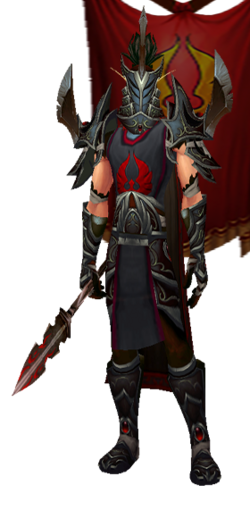 Arrodis - Dark Hand Set, Helm, with Banner (Table Image).png