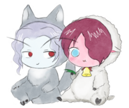 Illindra and Livelle chibi by Alyssane