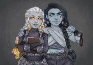 Adael and Yeula Hennaforth