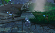 Celeenia aiding in the defense of the Temple of Elune