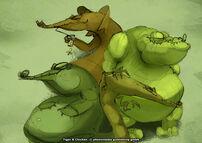 Moorhuhn T&C Ninja Krokodil 3
