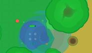 Sea Monster in waterspot