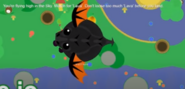 Flying black dragon