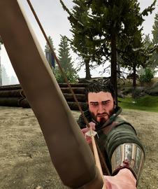 The Huntsman aiming his Longbow.