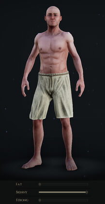 Male Body with Skinny Slider at Maximum