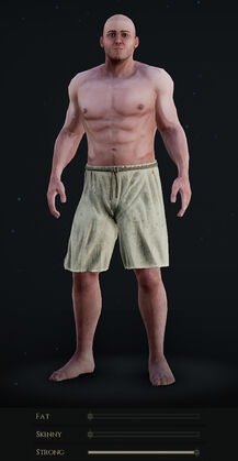 Male Body with Strong Slider at Maximum