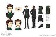 Albert James Moriarty Anime Character Design