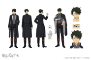 Sebastian Moran Anime Character Design