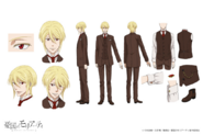 William James Moriarty Anime Character Design