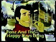 1981 PROMOS- MORK & MINDY, FONZ & HAPPY DAYS GANG CARTOON
