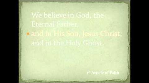 1st Article of Faith - Primary Children's Songbook (w Lyrics)