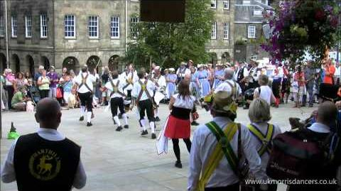 Morris Dancing Kesteven Morris Men at Buxton, Derbyshire.