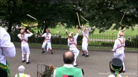 Morris Dancing Kinnerton Morris in Buxton, Derbyshire - 20th July 2013