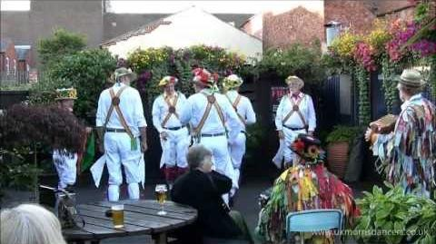 Morris Dancing Foresters Morris Men in Ilkeston, Derbyshire