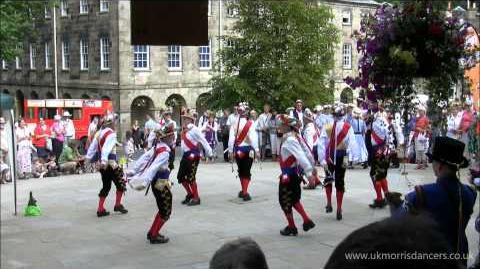Morris Dancing Manchester Morris Men at Buxton, Derbyshire