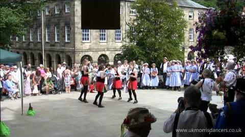 Morris Dancing Kesteven Women dancing in Buxton, Derbyshire.
