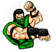 Mortal Kombat ll Arcade Art Reptile