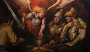 Raziel ritual painting