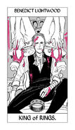 X Tarot Rings King