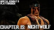 Mortal Kombat 9 (PS3) - Story Mode - Chapter 15 Nightwolf Gameplay Playthrough