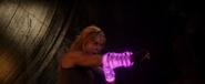 Sonya soltando uma faísca de energia