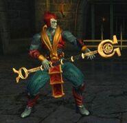 Shinnok with his Amulet Staff