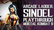 Mortal Kombat 9 (PS3) - Arcade Ladder Sindel Playthrough Gameplay