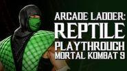 Mortal Kombat 9 (PS3) - Arcade Ladder Reptile Playthrough Gameplay