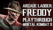 Mortal Kombat 9 (PS3) - Arcade Ladder Freddy Krueger Playthrough Gameplay