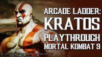 Mortal Kombat 9 (PS3) - Arcade Ladder Kratos Playthrough Gameplay
