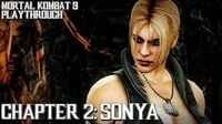 Mortal Kombat 9 (PS3) - Story Mode - Chapter 2 Sonya Gameplay Playthrough