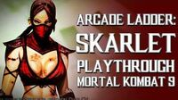 Mortal Kombat 9 (PS3) - Arcade Ladder Skarlet Playthrough Gameplay